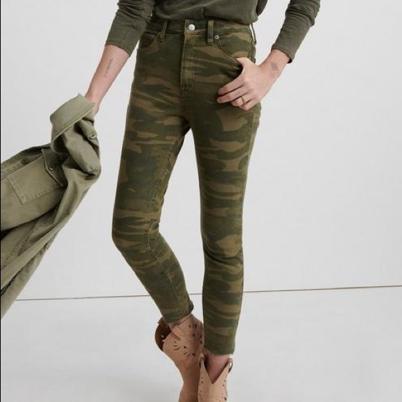 High Rise Bridgette crop Lucky Brand camo jeans